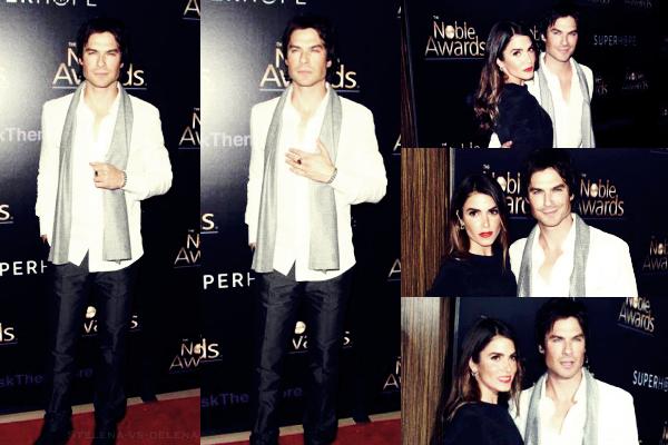"""✿Ian Somerhalder ॥ Le 25.02.15 : Ian ainsi que sa petit amie étaient tout les deux présent au"""" 3rd Annual Noble Awards. """""""