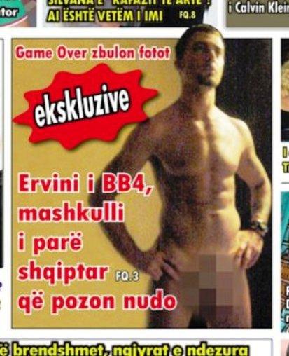 Ervini, shqiptari i pare qe pozon NUDO.