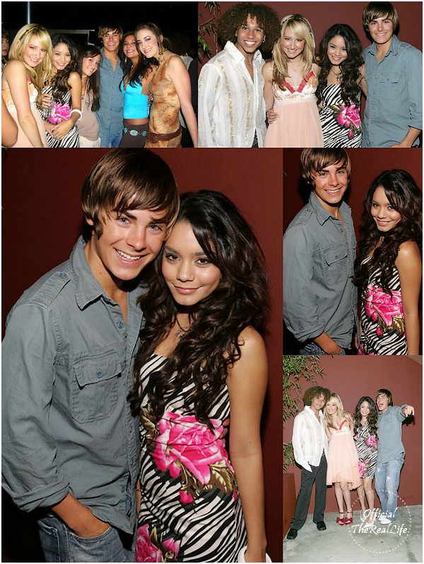 © Official-TheRealLife™  10/09/2005  ※  Vanessa et Zac présent à la Ashley's Tisdale Birthday party à Los Angeles.  _