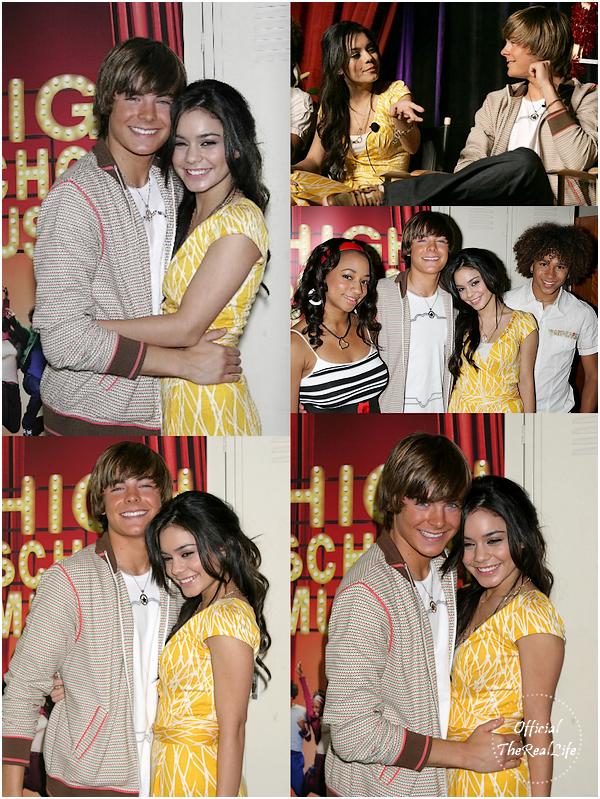 © Official-TheRealLife™  04/05/2006  ※  Zac et Vanessa pour High School Musical press conference.  _