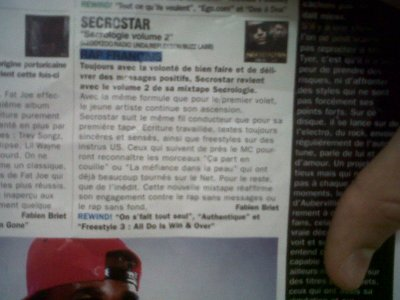 """Chronique """"Secrologie vol 2"""" by Rap Mag"""