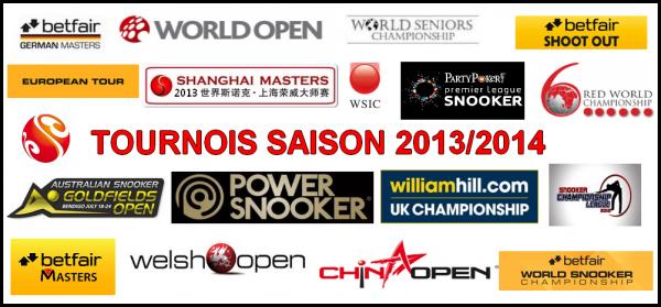 Tournois saison 2013/2014