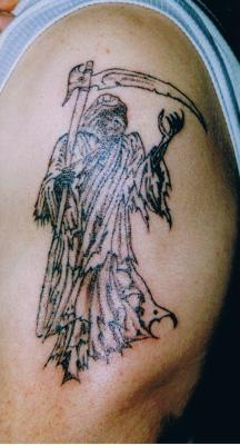La faucheuse the tatoo house - Tatouage la faucheuse ...