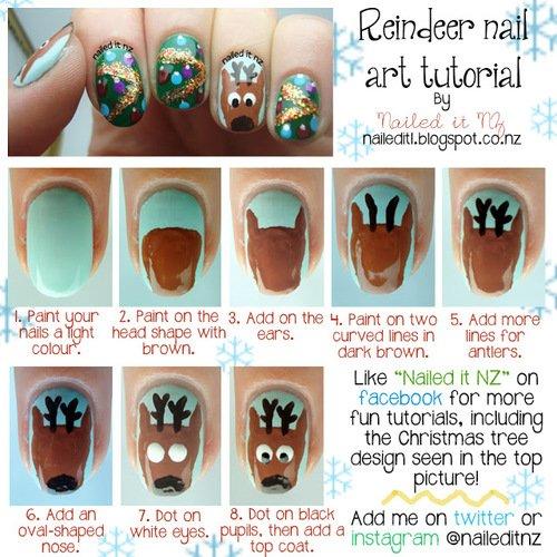 nail art cerf