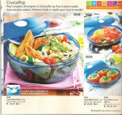 Crystalpop tupperware 31 - Plat cuisine a congeler ...