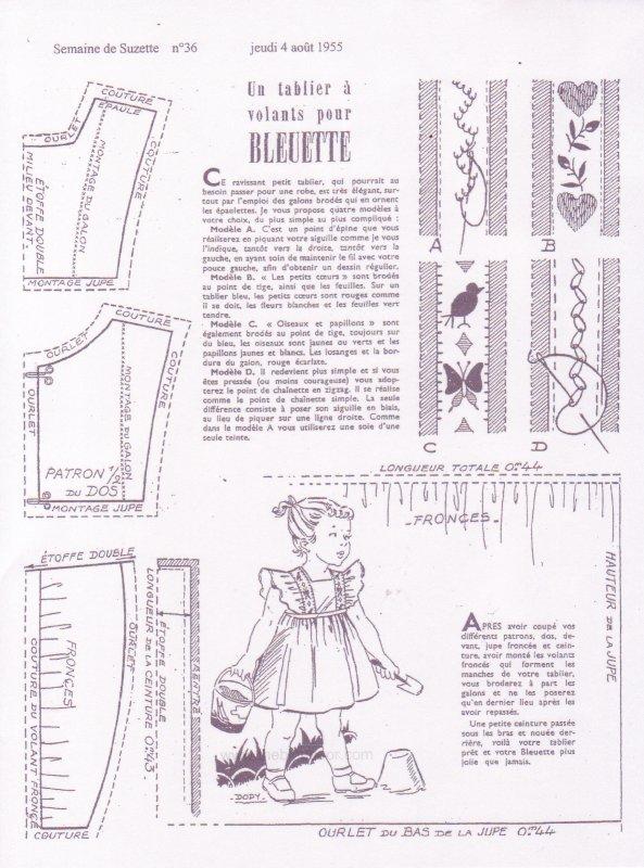 un tablier volants pour bleuette blog de gene45. Black Bedroom Furniture Sets. Home Design Ideas