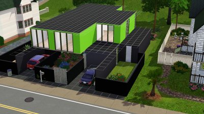 La maison container : l'extérieur