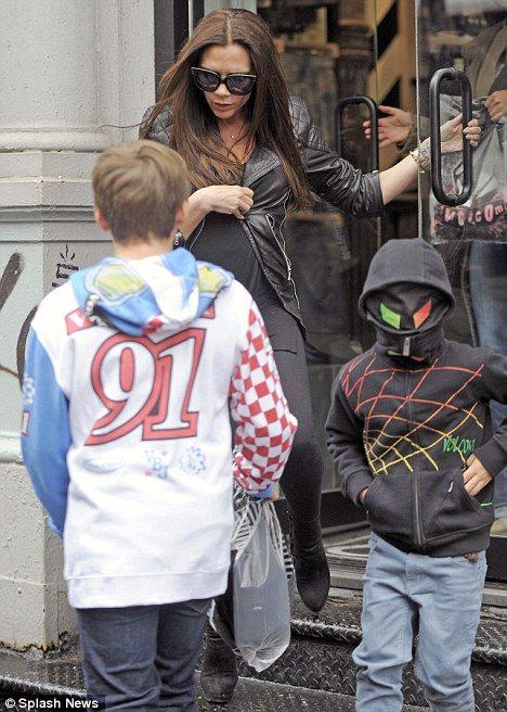 Victoria Beckham et ses fils � New York