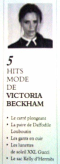 VICTORIA BECKHAM : DESIGNER CONFIRMEE