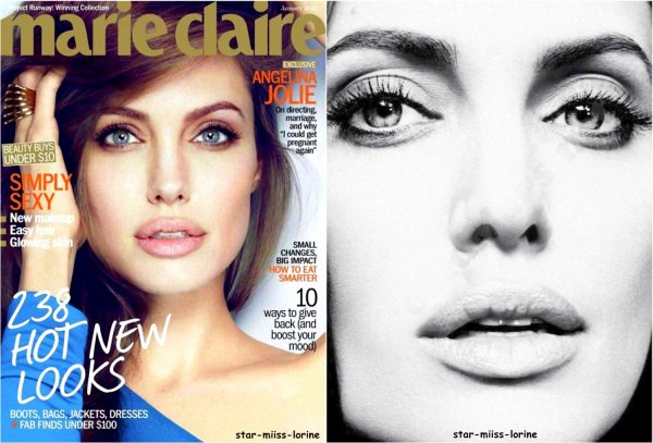 Photoshoot Angelina Jolie magasine marie claire janvier 2012
