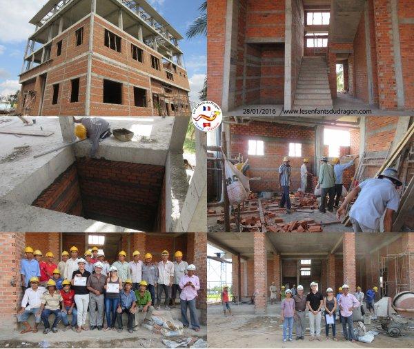 Travaux de construction de l'orphelinat - 3