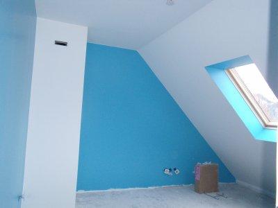 Peinture de notre chambre bleue et blanc blog de phenixmaisonbonheur - Chambre bleu et blanc ...