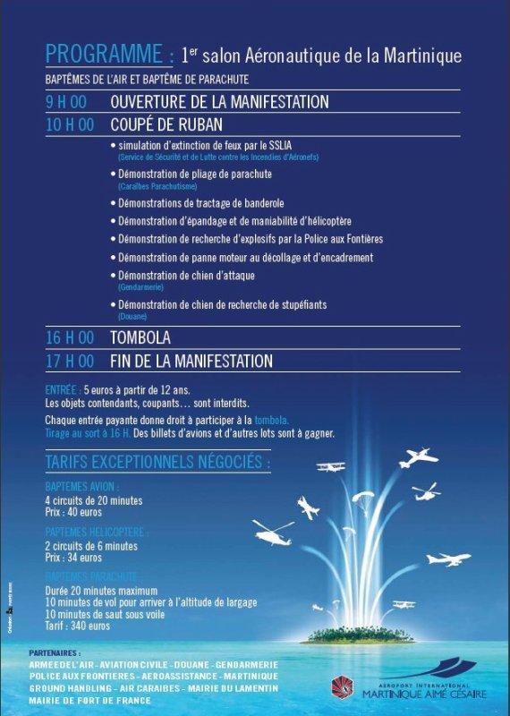 INFO : Programme Salon Aeronautique du 5 Decembre 2010