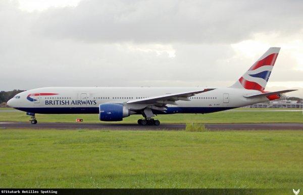 Déroutement > British Airways > Guadeloupe