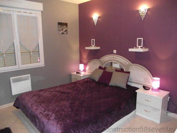chambre violet aubergine violet couleur aubergine cuisine chambre salon tapis with chambre. Black Bedroom Furniture Sets. Home Design Ideas