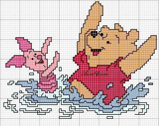 Grille Disney Winnie l'ourson 2 - Les créations de Salvina