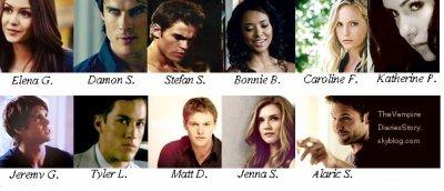 les personnages de vampire diaries