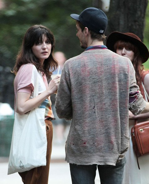 Irina Lazareanu Chats with Friends in NYC.