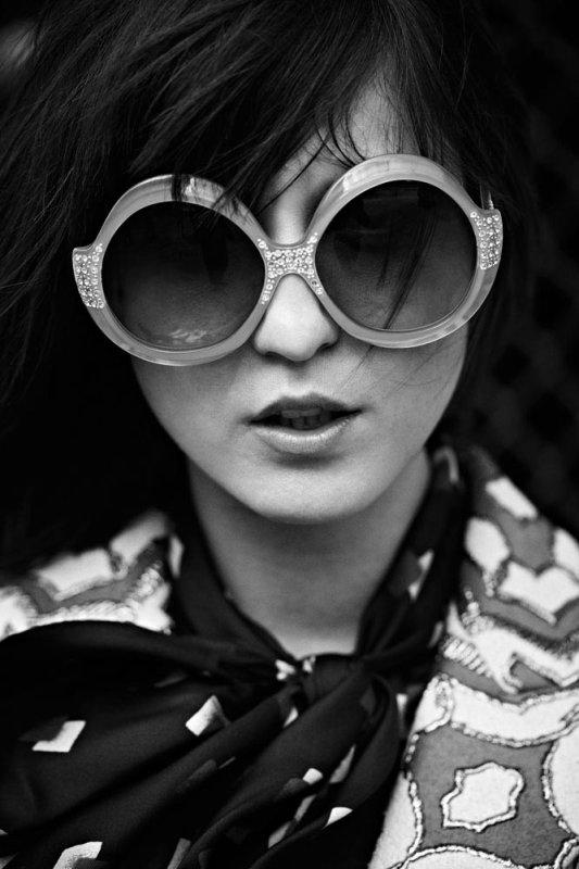 Irina Lazareanu Covers Dress to Kill's Fall 2012 Issue, Shot by Max Abadian.