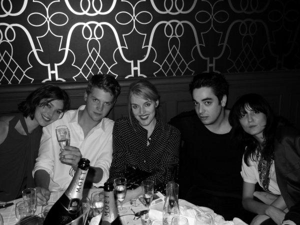Arizona Muse, Theodore Muse, Jen Carey, Gavin Doyle and Irina Lazareanu at Purple's 20th Anniversary Party.