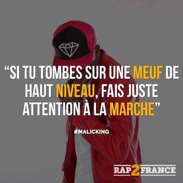 #Skyrock,La punchline de MALICKING mise en avant par le site RAP2FRANCE