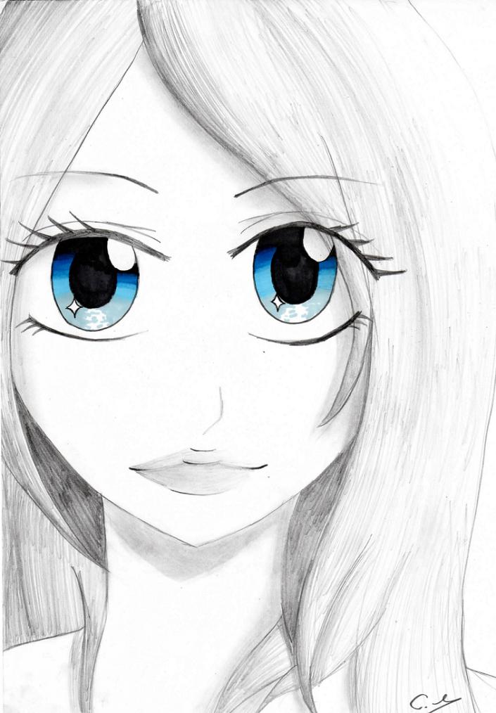 Articles de simply drawing tagg s dessin manga noir et blanc de - Idee de dessin a faire ...