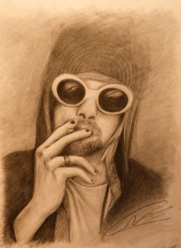 Kurt Cobain of NIRVANA / Drawing by YumeKim