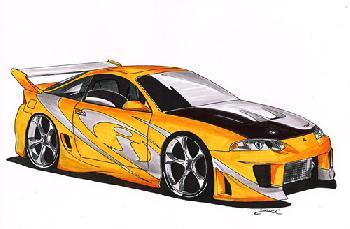 Eclipse dessin voiture tuning - Dessin de voiture tuning ...