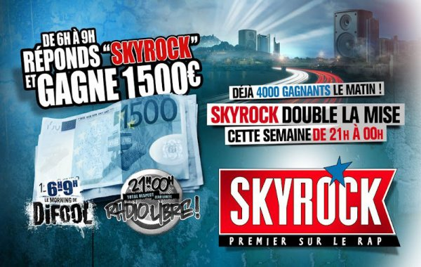 Les 1500 euros sur Skyrock