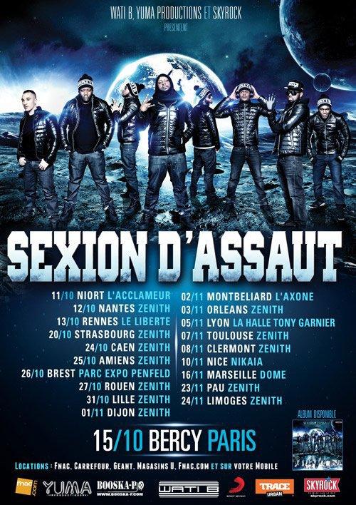 Nouvelle dates: Concerts de la Sexion d'Assaut