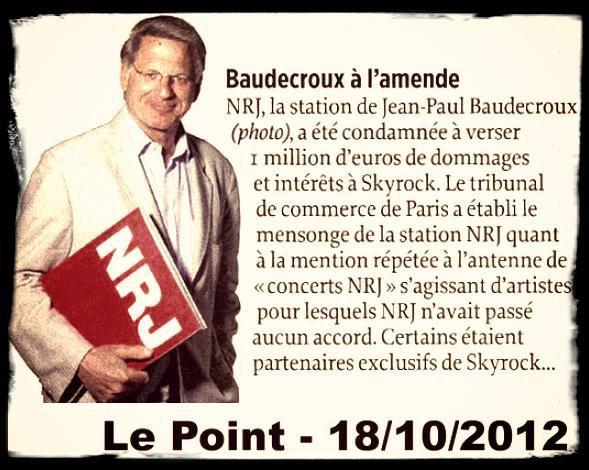 NRJ condamn� � verser 1 million d'euros � Skyrock
