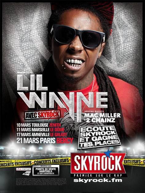Lil wayne en concert avec Skyrock