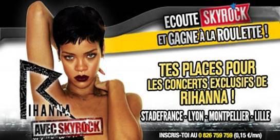[ La Roulette ] → Cette semaine, gagne tes places pour Rihanna