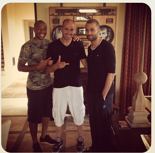 Cut Killer avec Thierry Henry et Tony Parker