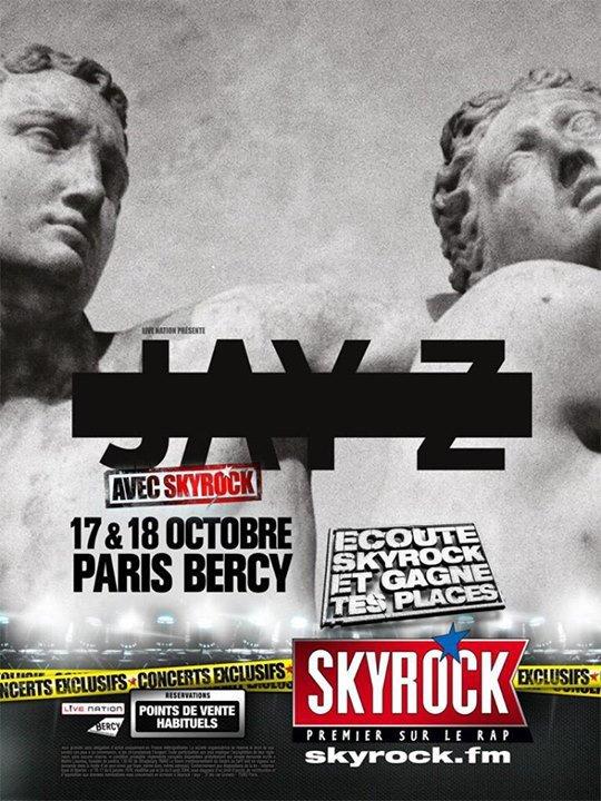 JayZ l'�v�nement Rap Us Skyrock le 17 et 18 octobre 2013 � Paris Bercy!