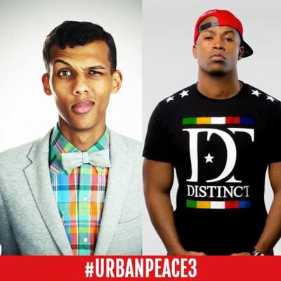 Stromae et Rohff sur la sc�ne du Stade de France pour Urban Peace 3