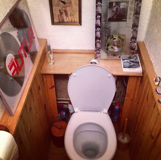 Les toilettes chez Booba