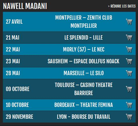 Nawell Madani en tournée