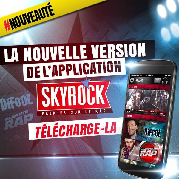 La MAJ de l'application Skyrock !