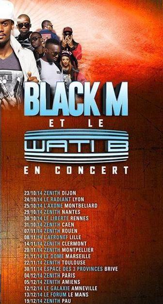 Black M en tournée Skyrock