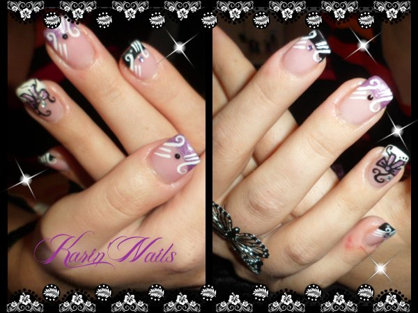 photo deco ongles noeud