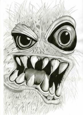 Tete de monstre mai dessin - Dessin monstre facile ...