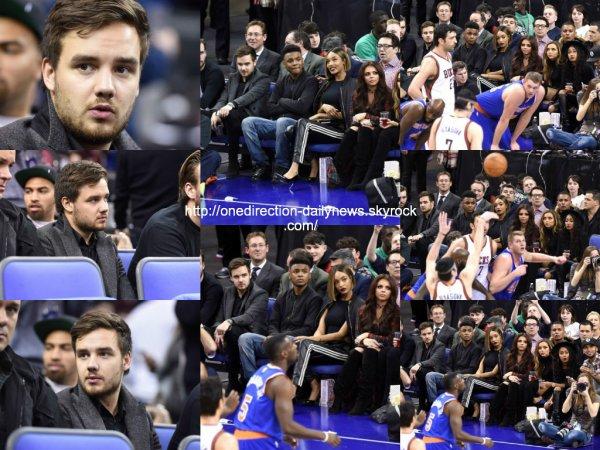 15 janvier 2015 : Liam a assit� au match de basketball New York Knicks vs. Milwaukee Bucks � Londres