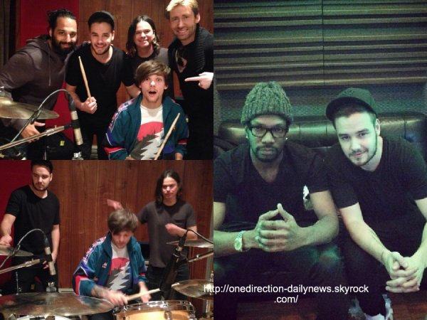 28 janvier 2015 : Liam et Louis ont �t� dans un studio � Los Angeles
