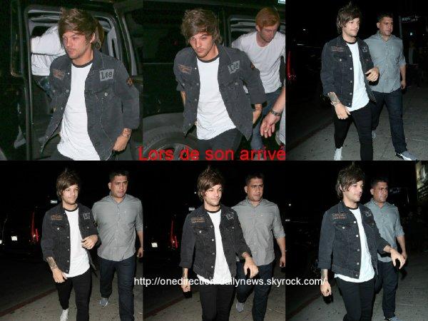 5 mai 2015 : Louis a �t� vu alors qu'il arrivait et quittait le Argyle nightclub � Los Angeles