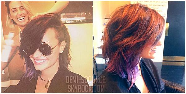 *Demi a posté deux nouvelles photos sur Twitter. Elle a raccourci ses cheveux !  *