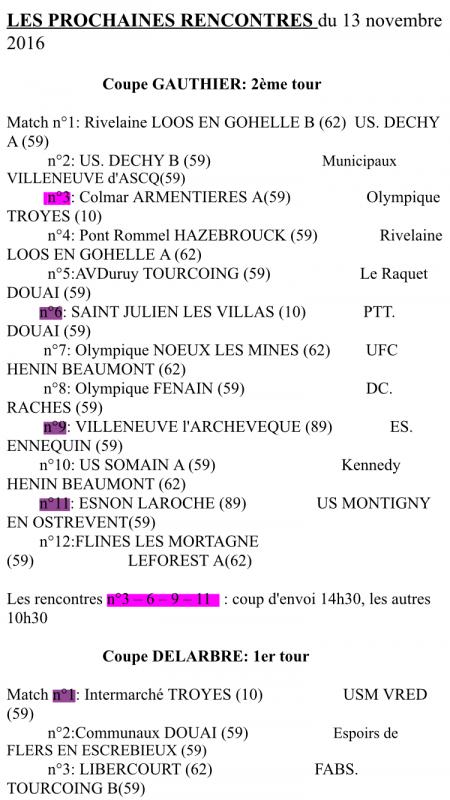 Tirage coupe de France du 13/11