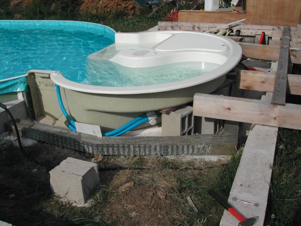 Remblayage de l 39 escalier ma piscine waterair sa for Construction piscine waterair barbara