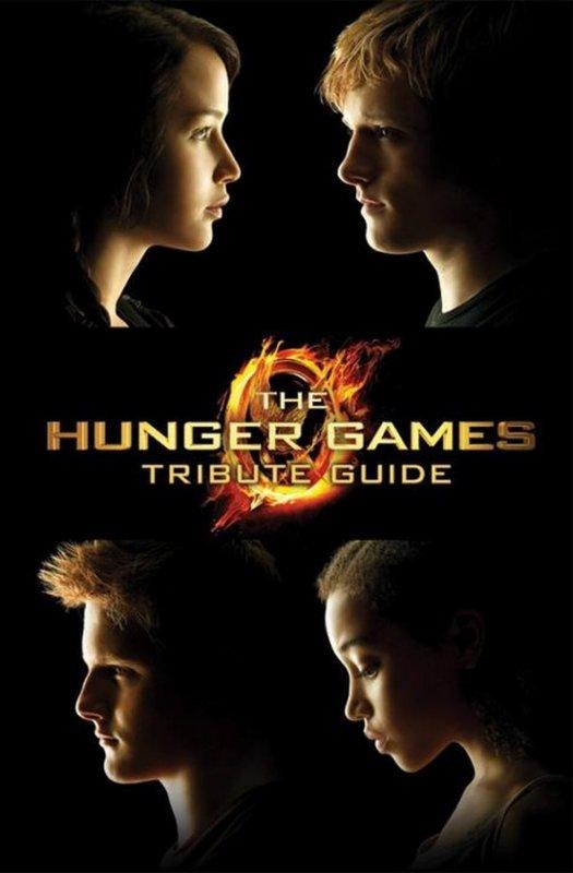 Couvertures VO de la réédition d'HUNGER GAMES, du Guide Officiel du Film et du Hunger Games Tribute Guide