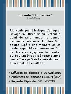 � 1x13 Leviathan  � Quand les h�ros seuls ne suffisent pas… le monde a besoin de l�gendes._________________________________________Cr�ation || D�coration